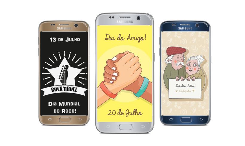 TELAS SPLASH – Dia do Rock, Dia do Amigo e Dia dos Avós!