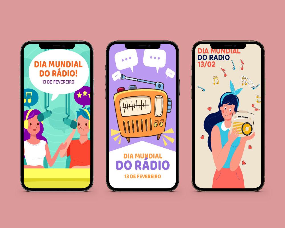 Telas Splash: Dia do Rádio